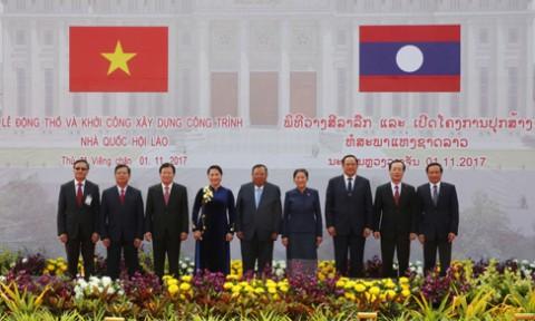 Khởi công Nhà Quốc hội – công trình biểu tượng cho mối quan hệ đặc biệt Việt-Lào
