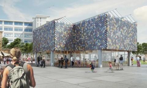 Tòa nhà đầy màu sắc ở Eindhoven được làm 100% từ vật liệu tái chế