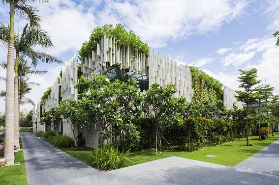 Công trình Naman Spa- Giải Bạc Giải thưởng Kiến trúc Quốc Gia 2016 với các tiêu chí bám sát tiêu chí của xu hướng Kiến trúc xanh