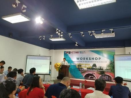 Chủ tịch UBND quận Hoàn Kiếm Dương Đức Tuấn phát biểu tại Hội thảo