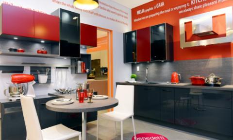 Showroom 500 m2 trưng bày nội thất Mobalpa, Benedetti