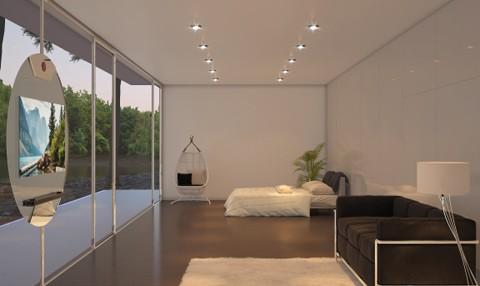 Thiết kế phòng khách với ti vi di động