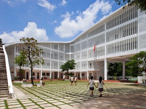 Kiến trúc mới trường học ở Bình Dương có kế thừa giải pháp tổ chức không gian mở và chiếu sáng của kiến trúc truyền thống