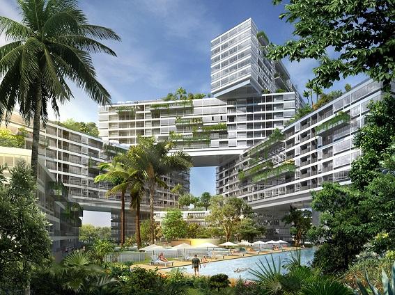 Thiết kế chung cư sinh thái The Interlace (Singapore)