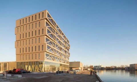 Tòa nhà cao 30m xây toàn bằng gỗ ở Hà Lan