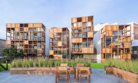 Sử dụng vật liệu tái chế xây dựng khách sạn năng lượng mặt trời ở Tây Phi