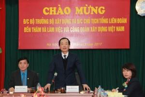 Bộ trưởng Phạm Hồng Hà thăm Công đoàn Xây dựng Việt Nam