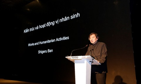 Kiến trúc và hoạt động vị nhân sinh: Những chia sẻ ý nghĩa từ bậc thầy kiến trúc Shigeru Ban