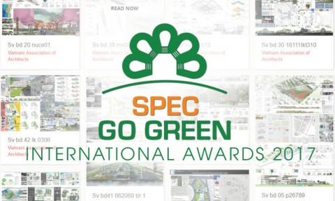 Giải thưởng SPEC GO GREEN 2017 bước vào giai đoạn nước rút
