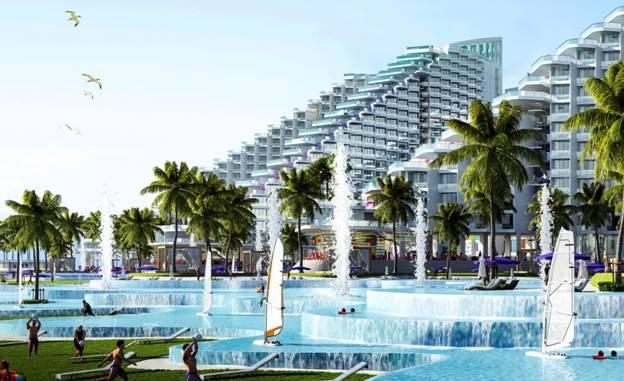 Bể bơi dài hơn 500m giật cấp 3 tầng độc đáo tại The Arena Cam Ranh