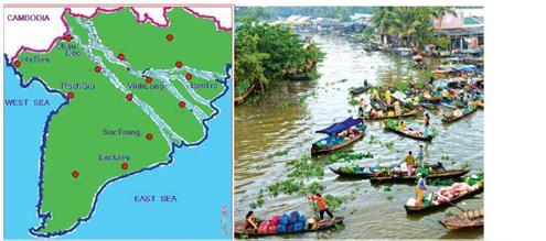 Các khu dân cư và chợ nổibên sông liệu có thay đổi khi biển dâng, sông cạn ?
