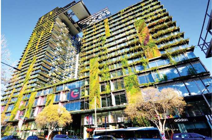 Giải pháp kiến trúc mặt đứng trồng cây xanh giảm thiểu hiện tượng bức xa nhiệt đô thị