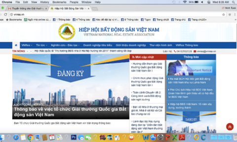 Chính thức nhận hồ sơ Giải thưởng Quốc gia Bất động sản Việt Nam