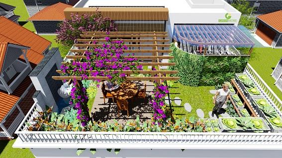 Vườn trên mái đang là giải pháp được nhiều người quan tâm