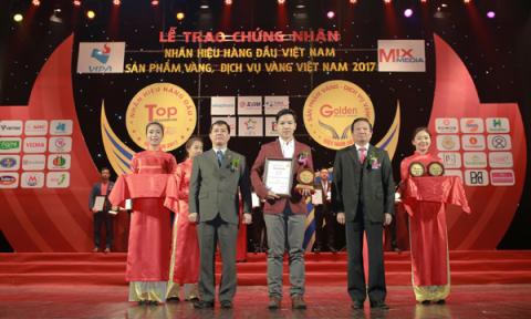 Ngói màu SCG lọt TOP 20 nhãn hiệu hàng đầu Việt Nam và TOP 10 sản phẩm vàng Việt Nam 2017