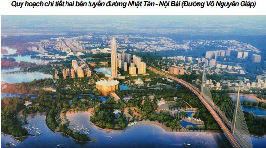 Quy hoạch chi tiết hai bên tuyến đường Nhật Tân - Nội Bài (Đường Võ Nguyên Giáp)