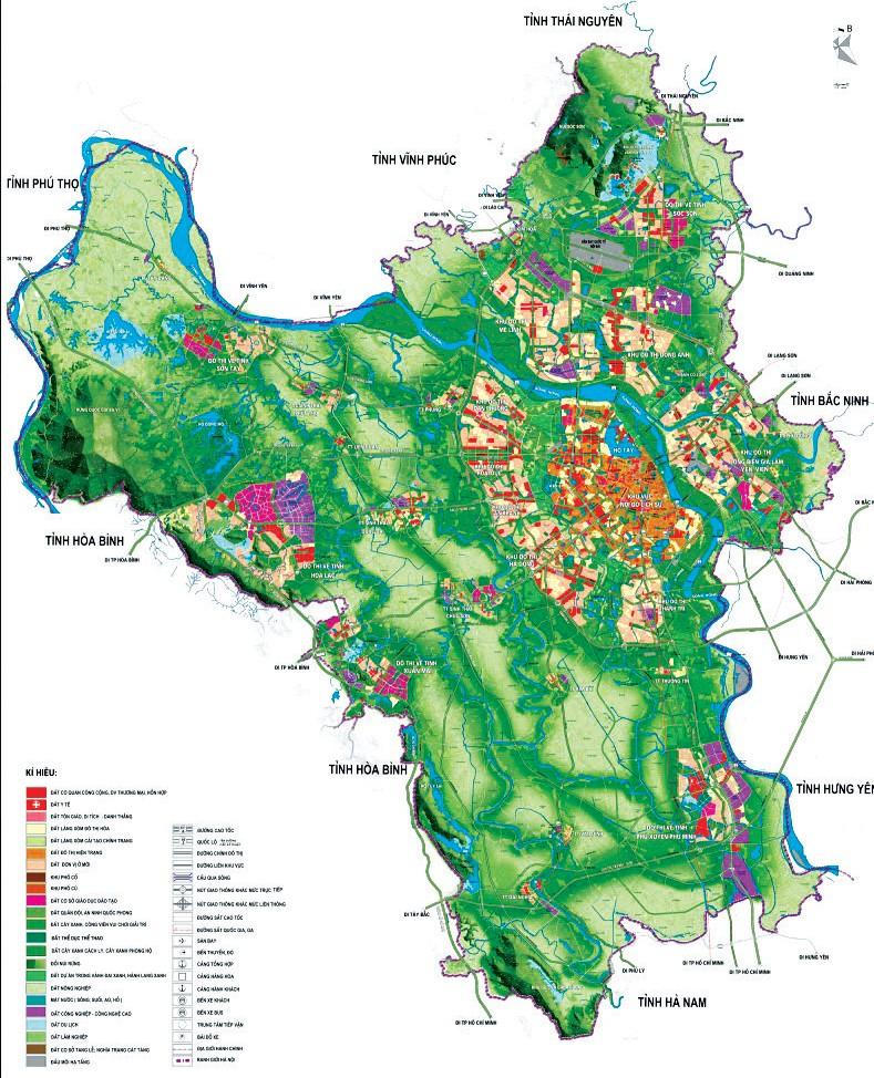Định hướng phát triển không gian Quy hoạch chung xây dựng Thủ đô Hà Nội đến năm 2030 tầm nhìn 2050