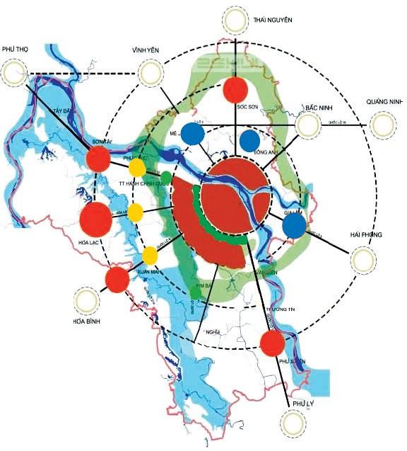 Cấu trúc đô thị Hà Nội trong tương lai