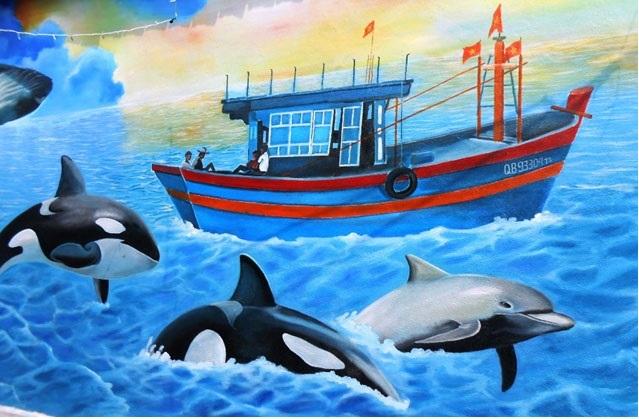 Màu sắc sống động mà các dòng sơn trang trí từ thương hiệu Dulux của AkzoNobel đã thổi hồn cho biển cả Cảnh Dương
