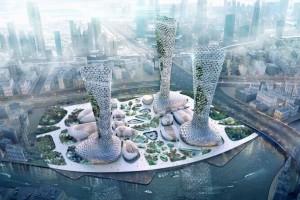 Các tòa tháp Symbiotic – giải pháp khí hậu giữa ốc đảo sa mạc Dubai
