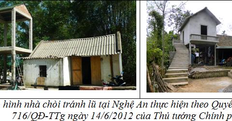 Áp dụng thiết kế điển hình, thiết kế mẫu cho công tác xây dựng nhà ở vùng thiên tai tại miền Trung