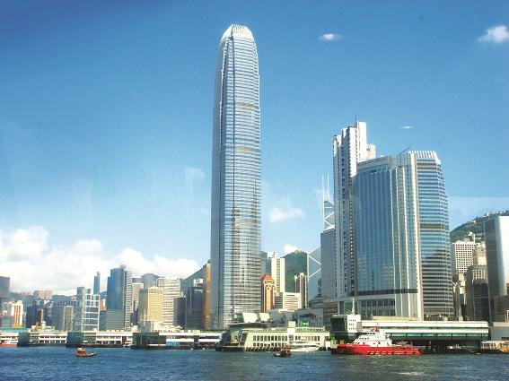 Tổ hợp IFC - International Financial Centre ,  Hong Kong  nơi có in-town-check-in station