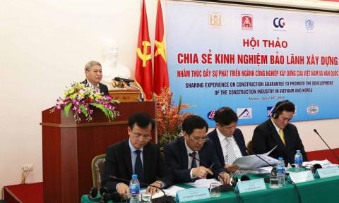 Chia sẻ kinh nghiệm bảo lãnh xây dựng của Việt Nam và Hàn Quốc