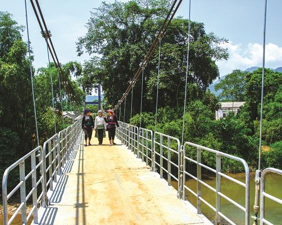 Cầu treo khu An Lạc 1, Xuân An, Yên Lập, Phú Thọ (ảnh: NTM)