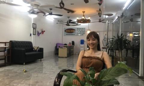 Những mẫu quạt trần độc lạ của nữ doanh nhân 8x