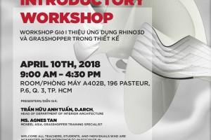 """Mời tham dự """"Workshop giới thiệu ứng Rhino3D và Grasshopper trong thiết kế"""""""