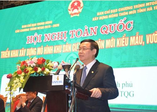 Phó thủ tướng Vương Đình Huệ phát biểu chỉ đạo tại hội nghị.