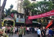 UBND phường Phạm Đình Hổ tổ chức diễn tập PCCC tại Tòa nhà Kinh Đô 93 Lò Đúc