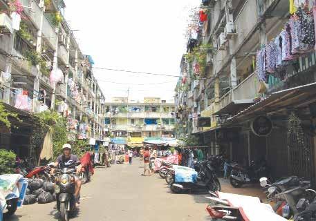 Hiện trạng không gian khu chung cư Nguyễn Thiện Thuật, Quận 3, TPHCM
