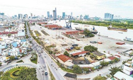 Đường Nguyễn Tất Thành (quận 4) sẽ mở rộng lên 40 m, giúp kết nối khu trung tâm với các quận, huyện phía nam thành phố và nhiều địa phương Tây Nam Bộ