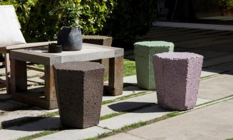 Ghế nhựa polystyrene tái chế từ vỏ hộp thức ăn