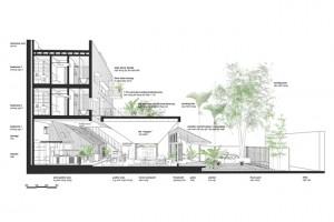 """Nhà hình phễu gần Hồ Tây gây tò mò với kiến trúc """"có 1 không 2"""""""