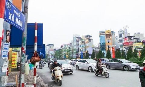 Choáng với giá đất nửa tỷ đồng/m2 ở nhiều tuyến phố Hà Nội