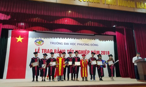 Lễ trao bằng tốt nghiệp và ngày hội tuyển dụng khoa Kiến trúc Xây dựng trường Đại học Phương Đông