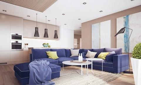 Nội thất nhà có màu sắc sống động tạo ấn tượng đẹp mắt