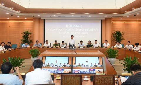 UBND Thành phố giao ban công tác 6 tháng đầu năm 2018