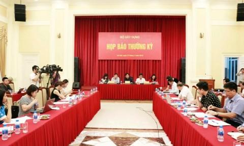 Bộ Xây dựng tổ chức họp báo Quý II/2018