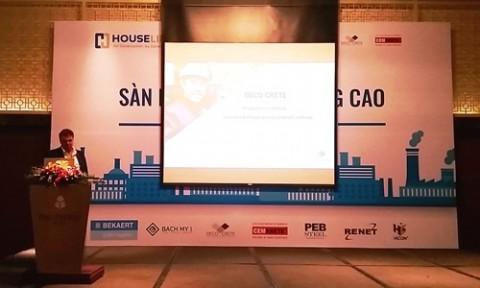 """Hội thảo """"Sàn bê tông chất lượng cao – Công nghệ mới nhất tại châu Âu & Mỹ và các vấn đề áp dụng tại Việt Nam"""""""
