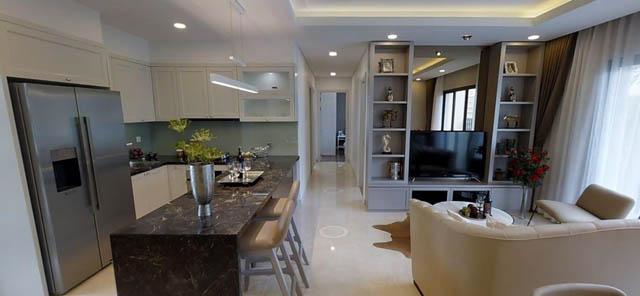 Homestay thường có cả phòng bếp, phòng khách như 1 căn hộ gia đình