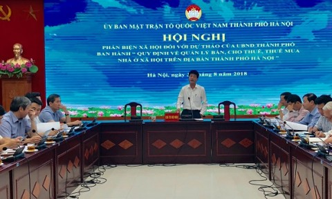 Hà Nội: Cần cơ chế giám sát, quản lý mua bán, cho thuê nhà ở xã hội