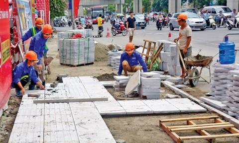 Hà Nội: Không được phép triển khai tràn lan dự án lát đá vỉa hè