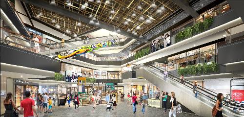 Alpha Mall với quy mô lên đến 8 tầng.