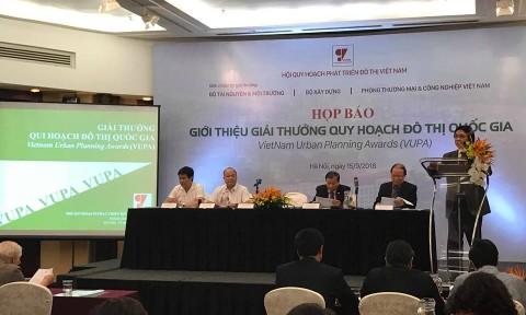 Họp báo: Giới thiệu Giải thưởng Quy hoạch Đô thị Quốc gia