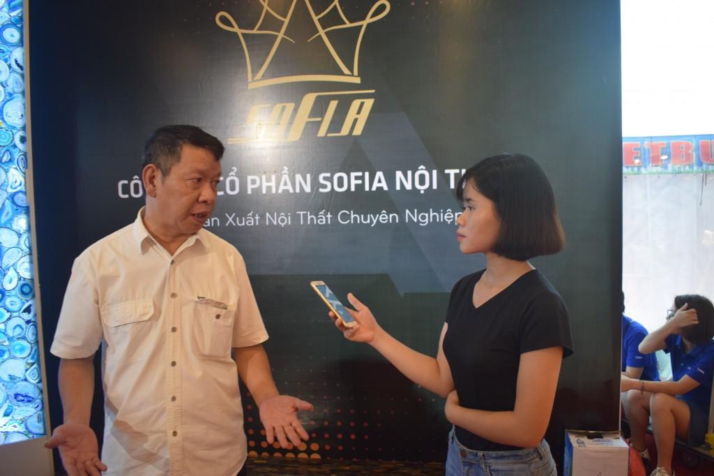 Anh Nguyễn Minh Tuấn – Giám đốc C.ty CP SOFIA NỘI THẤT trả lời phỏng vấn Báo Thời báo Mê Kông