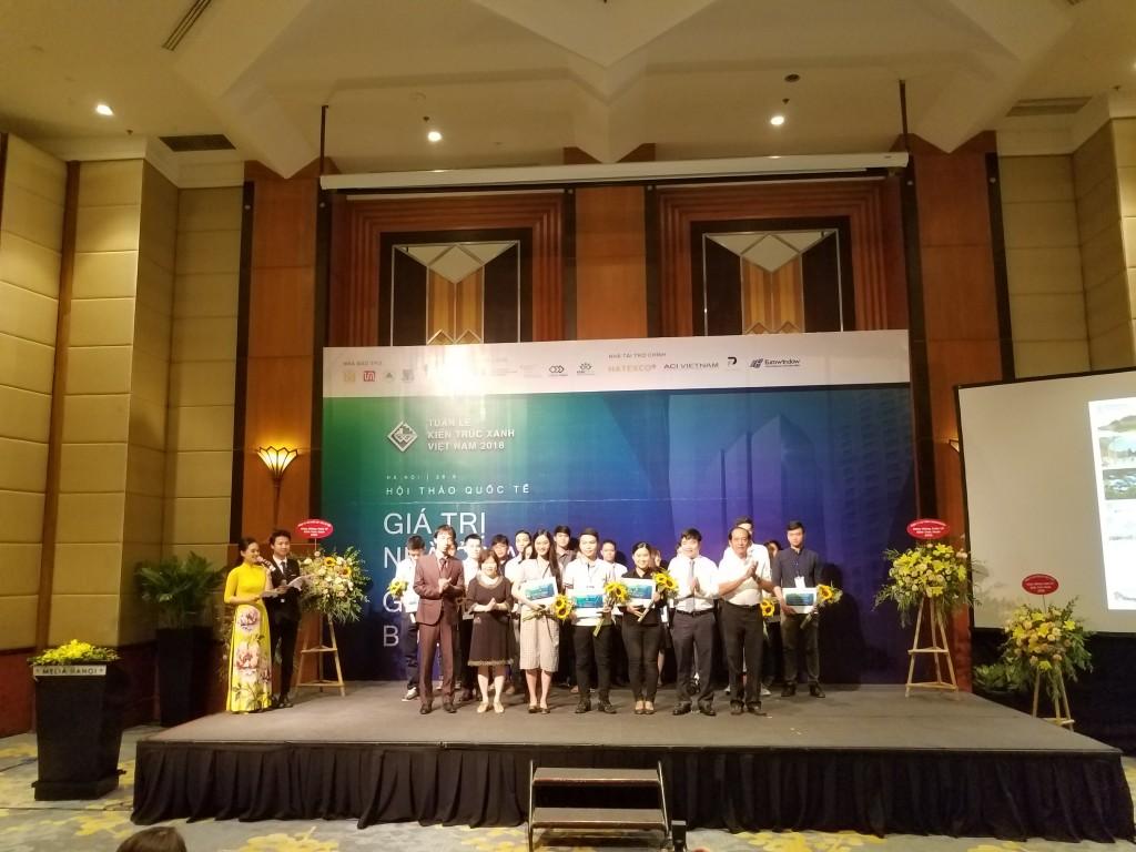 Trao giải thưởng Cuộc thi Kiến trúc xanh Sinh viên Việt Nam