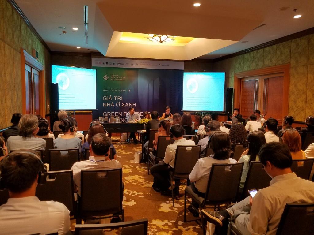 Phòng hội thảo chuyên đề trong khuôn khổ Tuần lễ Kiến trúc Xanh Việt Nam 2018